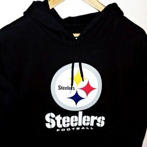 NFL Pittsburgh Steelers Black Pullover Hoodie Sz L